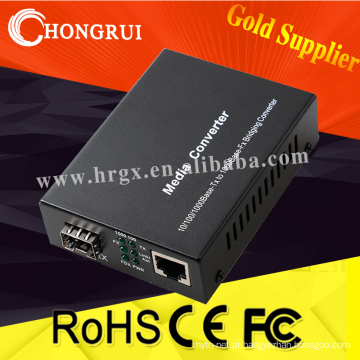 conversor de fibra para rj45 conversor de mídia sfp conector sc 10/100/1000