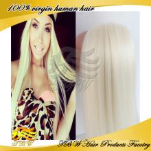 Cabelo louro de Fashinable Vigin cabelo humano para as mulheres brancas 60 #