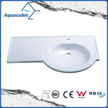 Good Quality Artificial Marble Single Lever Bathroom Sink Acb0915