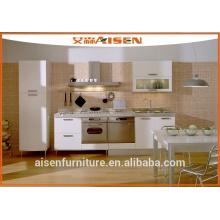 Gabinete de cocina de paquete plano mfc barato para uso en proyecto