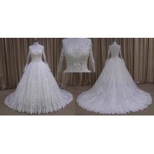 Long Sleeves Princess Full Lace Wedding Dress