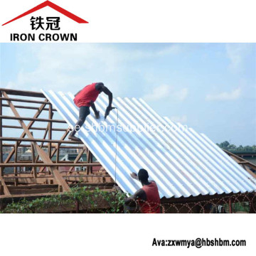 Iron Crown Non-asbest Isolerande MgO Corrugated Roof Tile