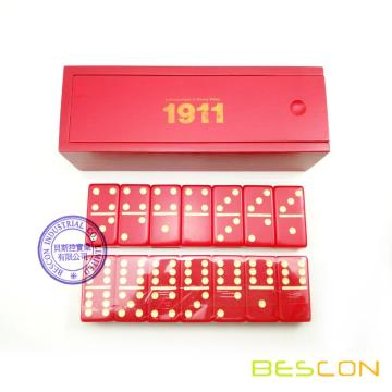 Custom Red Acrylic Domino Game Set