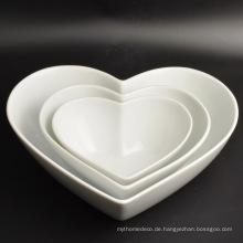 Neue Design Dekoration Herzform Porzellan Geschirr Platte