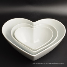 Новый Дизайн Украшения Формы Сердца Фарфора Посуда Пластины