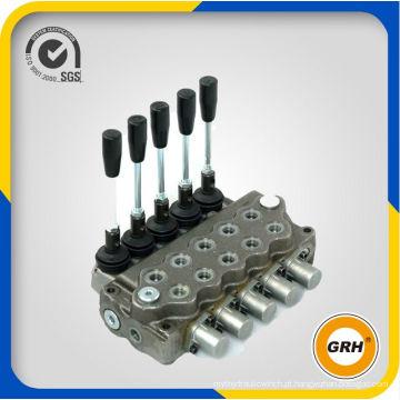 Válvulas de controle direcional seccional hidráulico de 5 carretéis