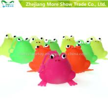 Novedad Multicolor Puffer Frog Yoyo Light Up Ball Kid Toys