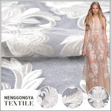 Designer Comfortable polyester white lace fabric for wedding dress