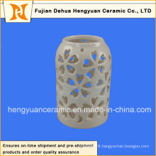 Ceramic Decorative Hollowed-out Canister Lantern Design