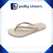 White EVA Flip Flop Women Diamond Strap