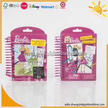 Mini libro di sketch di Barbie Mini con pastelli a forma di