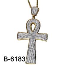 Nouvelle conception de style de style Micro 925 pendentif croix en argent.