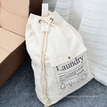 Wholesale low MOQ home daily necessities travel creative cotton canvas drawstring pocket storage bag for clothing