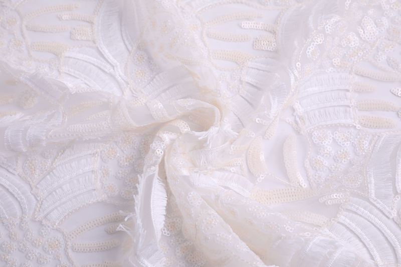 Milky Yarn 3D Embroidery Fabric