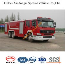 Caminhão de bombeiros Euro3 da água de 16ton HOWO