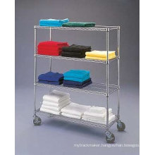 Adjustable Chrome Steel Plate Storage Rack System (HD481872A4CW)