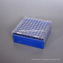 PC Cryo Freezer Box 100 puits pour tube cryogénique de 2 ml