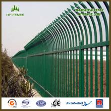 Китай Профессиональное горячее окунутое оцинкованное и порошковое покрытие / лакированное копье Верхнее железнодорожное ограждение / кованый забор