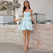 Weixin Shein Fashion Summer Party Ruffle Layered Skater Womens Clothing Casual Dress
