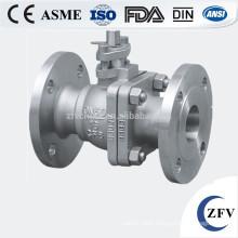 100mm stainless steel SS304 pn16 flange ball valve