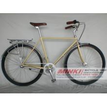 700 C bicicleta retro de Fixie de la velocidad de la bicicleta 3 de la ciudad del vintage