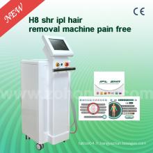 H8 3000W avec 10nm X 4nm pour Sr, 15nm X 50nm avec Shr IPL Hair Removal Machine