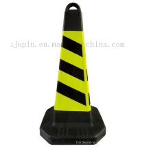 Cone de advertência de advertência reflexivo do tráfego da estrada de borracha portátil feita sob encomenda