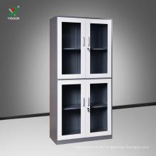 A porta de vidro bate para baixo o armário de arquivo de aço do armário da mobília