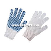 7g Bleichmittel White String Knit PVC Single Gepunktete Handschuh-2406