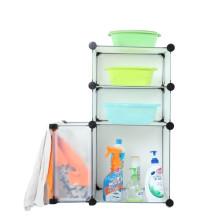 Пластиковые DIY Cbinet хранения с много цветов доступных (FН-AL0611)