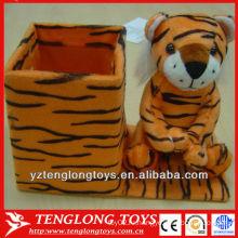 Новый тип прекрасный и милый плюшевый тигр в форме карандаша держатель животного карандаш