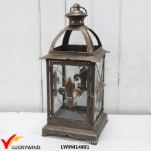 Vintage decorativo filigrana estilo francês metal lanterna