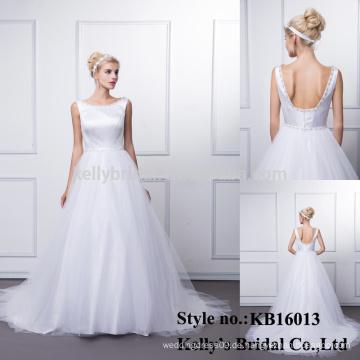 2015 pakistanische Phantasie sexy sehen durch Korsett Anti-Falten-Reinigung reinigen kurze Hülse Fußboden Länge Hochzeitskleid Online-Verkauf