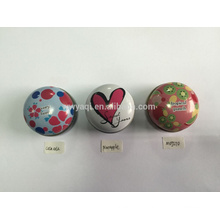 Wholesale High Quality 15g Round Iron Tin Lip Balm Different Favor