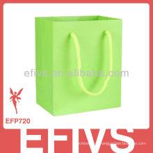2013 Verde Elegante Verde Colorido saco de presente do cartão de design