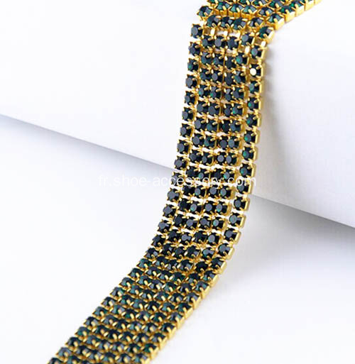 Strass Roll Diamant Coupe Chaîne AB Pierre