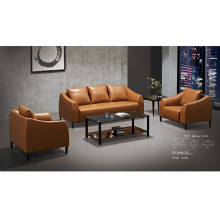 High Legs Simple Design Sofa Set in Genuine Leather