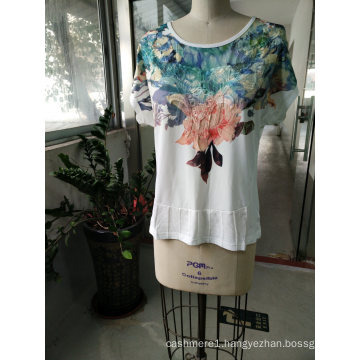 Fashion Latest Embossed Women Leisure T-Shirt Clothes