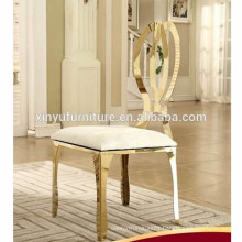 Luxury carving stainless steel wedding chair XYN2808