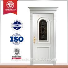 China puerta de madera maciza puerta de vidrio de madera blanca en diseño de lujo Proveedor de la elección