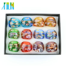 MC1014 Factory Outlet Millefiori Gold Sand Lampwork Glass Rings 12pcs/box