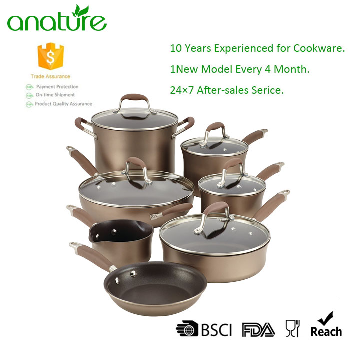 Luxurious 12pcs Titanium Nonstick Cookware Set