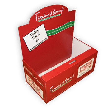 Custom Charity Karton Papier Zähler Top Display Box