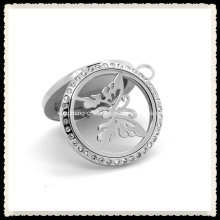 Customize Fashionable CZ Crystal Pendant Jewelry Perfume Diffuser Locket