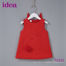 72123 Jupe de lapin rouge pour bébé fille