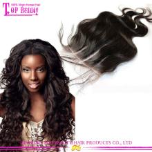 Бразильские волосы переплетения 3 часть шелковый база закрытие высокое качество 3 пути часть закрытия