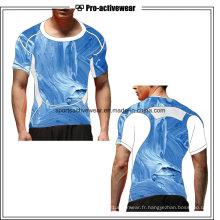 Wholesale Dry Fit Compress Wear Sports Running Men Cotton Derniers T-Shirts pour Hommes