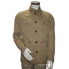 Casual Multi-Pocket Jacket Collar Jacket Men Slim Fit Winter Jacket