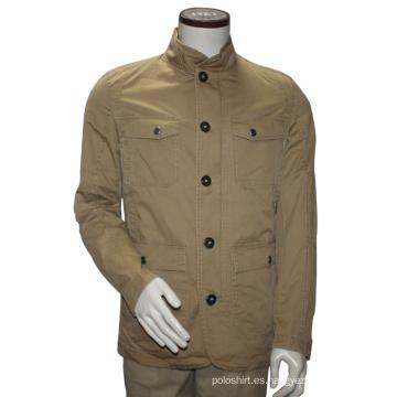 Chaqueta de cuello casual de chaqueta de varios hombres Chaqueta de invierno de corte slim