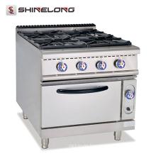 Better Design High Efficient Combustion Gas Range With 4 Burner & Oven CE Range Heater